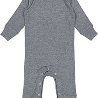 Infant Long-Sleeve Baby Rib Coverall Thumbnail