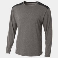 Men's Tourney Heather Color Block Long Sleeve T-Shirt Thumbnail