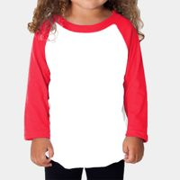 Toddler Poly-Cotton 3/4-Sleeve T-Shirt Thumbnail