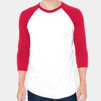 Unisex Poly-Cotton USA Made 3/4-Sleeve Raglan T-Shirt Thumbnail