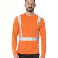 Hi-Visibility Long Sleeve Performance T-Shirt - Solid Tape Thumbnail